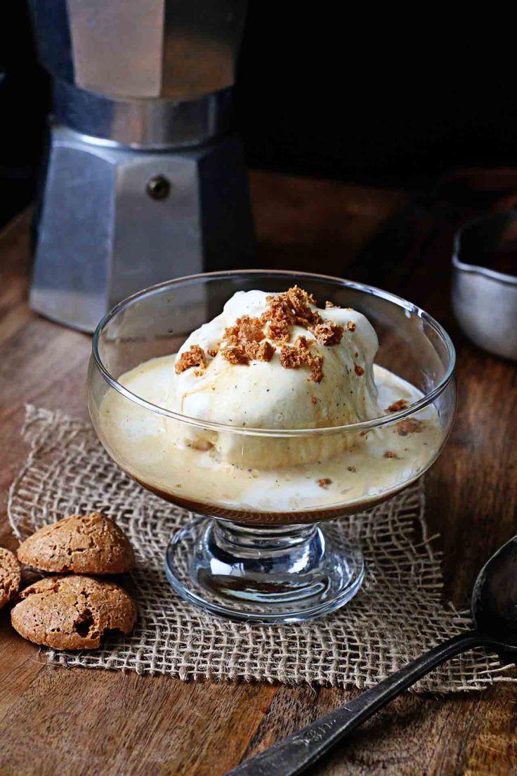 Affogato Amaretto - Ice Cream drowned in coffee and amaretto Perfect for a romantic late dessert!