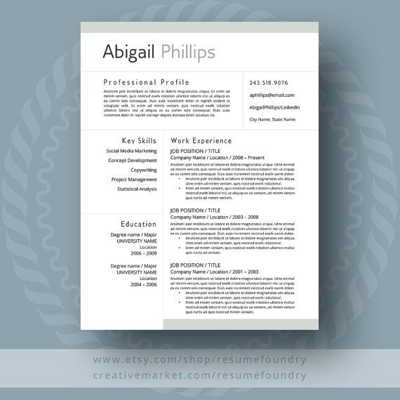 the 25 best best resume template ideas on pinterest