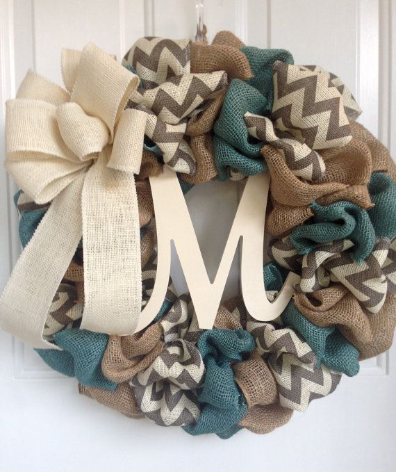 Burlap Wreath, Everyday Wreath, Burlap Everyday Wreath, Chevron Wreath