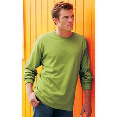Adult Long Sleeve Cotton Shirt Coloured Min 25 - An ultra tight knit surface long sleeve shirt with double needle bottom hem. #GildanPrintedTShirts #CottonShirt #WomensCottonTShirt #MensCottonTShirt #UnisexCottonTShirt #KidsCottonTShirt #LongSleeveCottonTShirt #VNeckCottonTShirt #CottonTankTop #CottonTeeShirt #FemaleTankTop