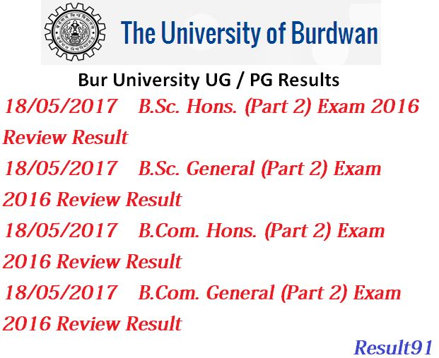 University of Burdwan Result 2015-2017 BA/ BCom/ BSc/ BBA/ BCA/ BEd/ MA/ MCom/ MS-www.buruniv.ac.in :- University of Burdwan has announce the exam result 2017 on official web portal of University of Burdwan. Students, who are looking for University of Burdwan Result 2017 can also get their B.A, B.