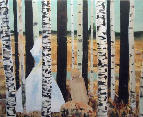 Ronald Versloot (1964) 2008 'Standpoint' 200x240 cm acrylverf op linnen