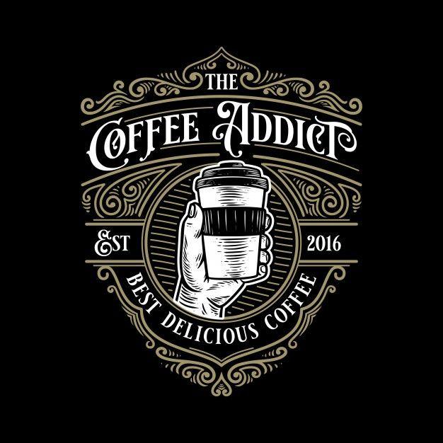 Modello Di Logo Retro Vintage Dipendente Da Caffe Con Ornamento Elegante In 2020 Vintage Logo Design Retro Logo Design Retro Logos