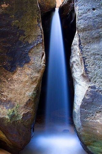 Water Cuts Rock, Zion & Bryce Canyon Area, Utah