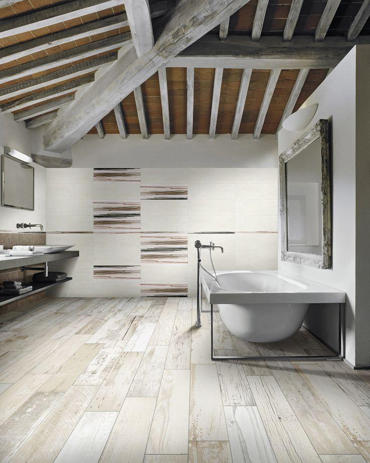 Houtlook tegels in badkamer