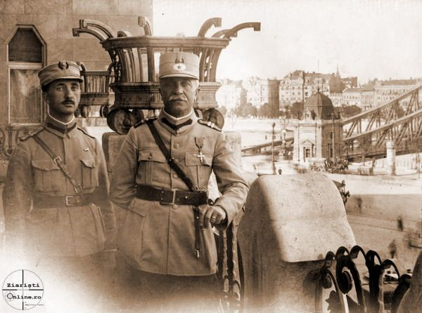 Gen Gheorghe Mardarescu la Hotel Ghellert din Budapesta Armata Romana in Ungaria 1919 - Foto Ziaristi Online