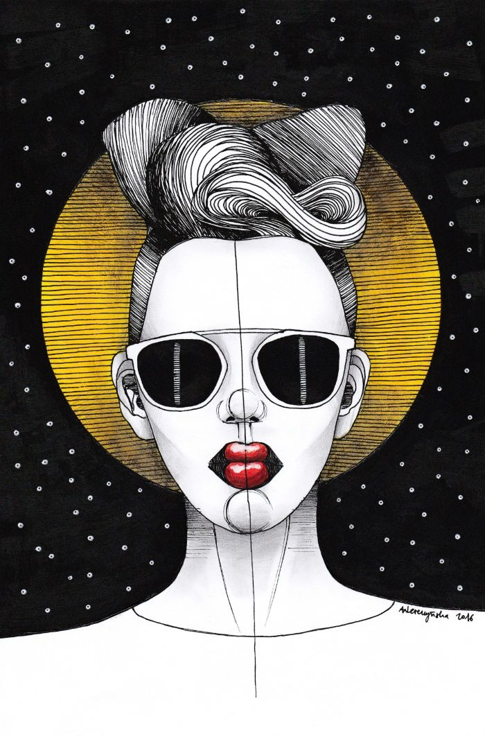 Cosmic Girl Art Print by Agata Wereszczyńska | Society6