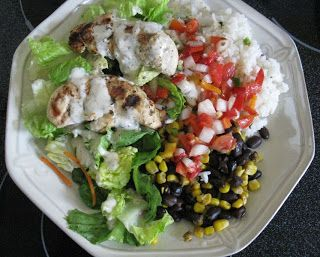 Family Favorite Recipes: Taco Bell Inspired Healthy Chicken Cantina Bowl