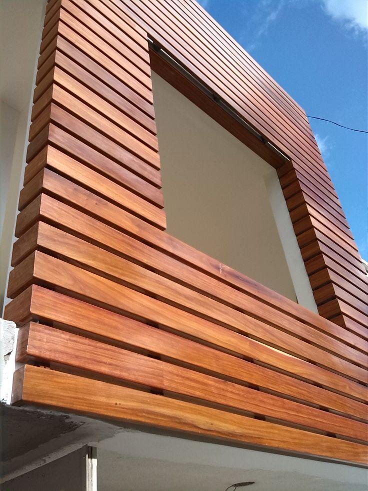 Celosia en madera para fachadas construexpress