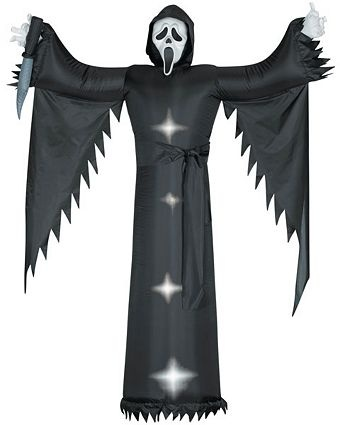 buy for halloween halloween decorations 6 tall airblown halloween inflatable scream movie ghost face from gemmy halloween christmas shop