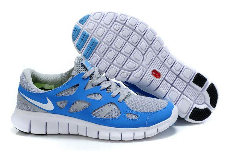 Nike Free Run 2,0 Damen & Herren Schuhe Sale Blau & Grau