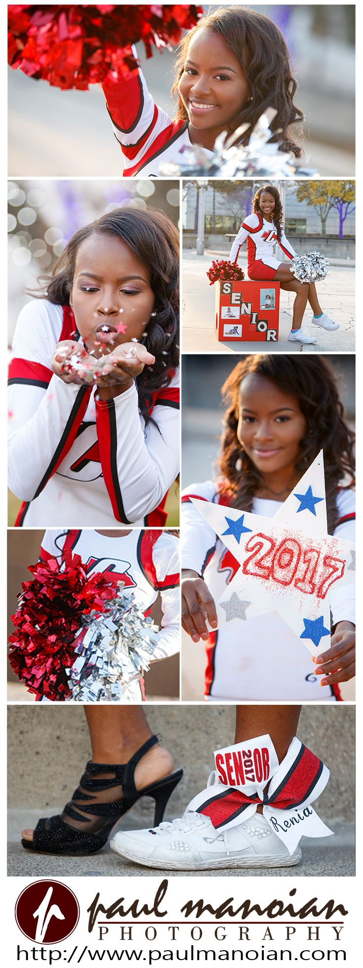 Cheerleading senior pictures pose ideas for girls #cheer #pompom - Detroit senior pictures photographer