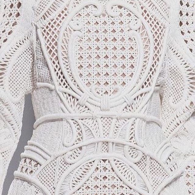 DETAILS | Fabric obsession and inspiration | image via @k.y.h.a | #newcollection #design #gown #wedding #weddingdress #bride #balmain  #Regram via @chosenbyoneday
