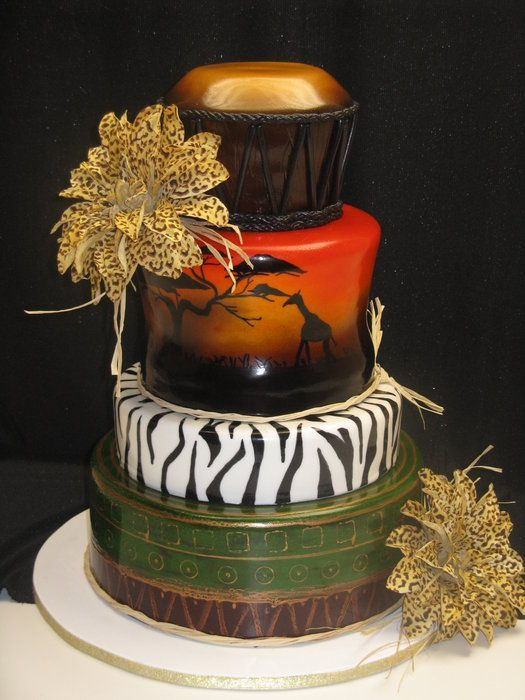 wonderful Africa - by rosevanille @ CakesDecor.com - cake decorating website