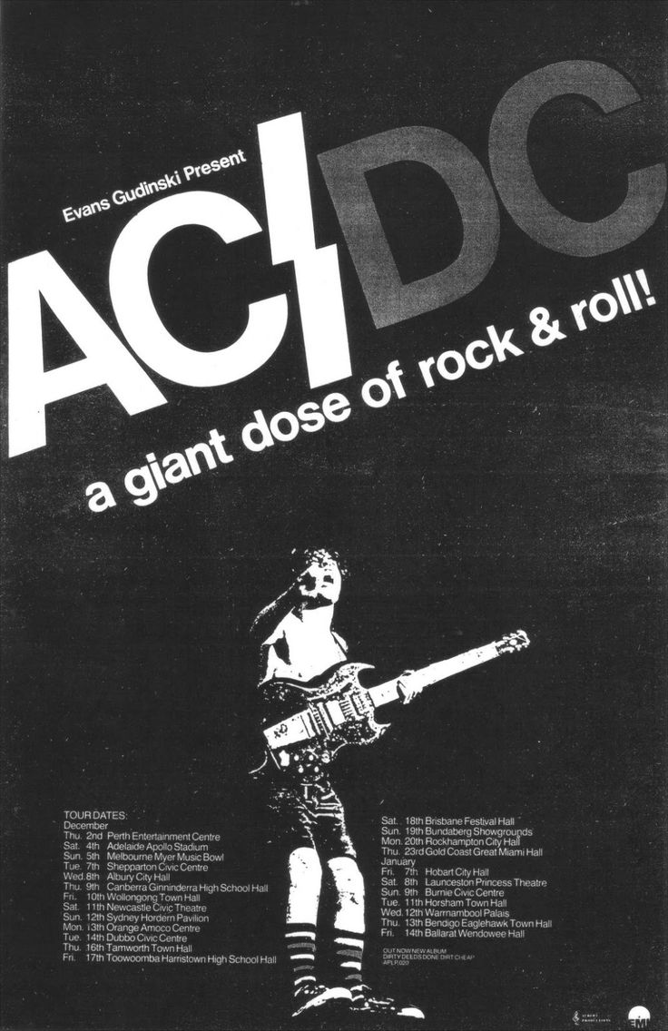Acdcbell Ac Dc Tour Poster Hard And Metal Concert