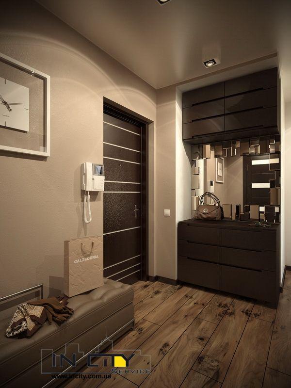дизайн прихожей в квартире в панельном доме 7