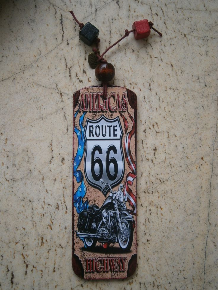 Bookmark zakładka decoupage #decoupage #bookmark #route66 #highway #zakładka