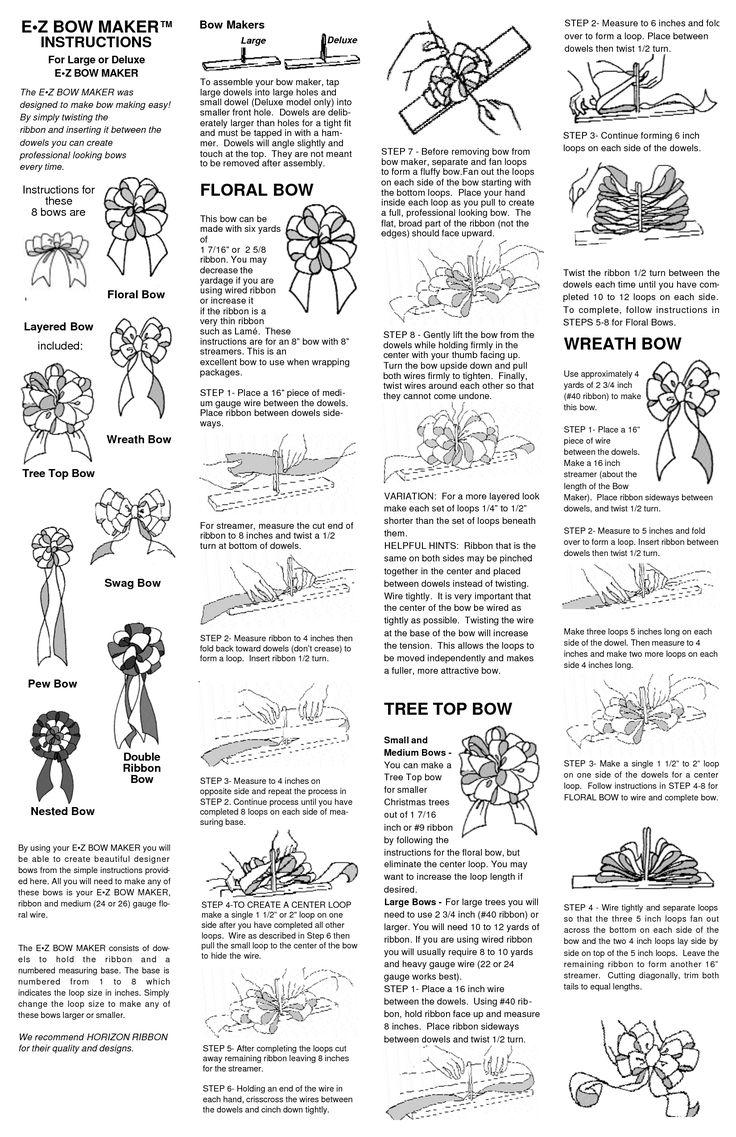 Finding an EZ Bow Maker Instruction Manual   ThriftyFun