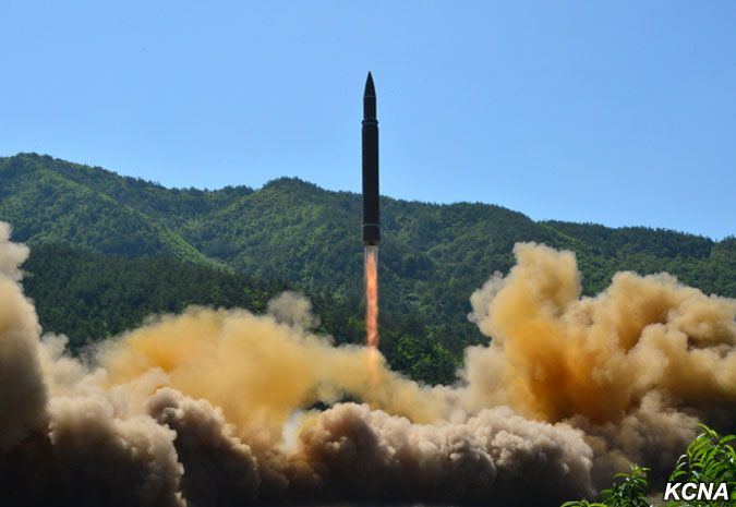 Hwasong-14 launch July 4, 2017