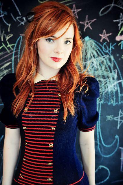 Redhead girl selfmade