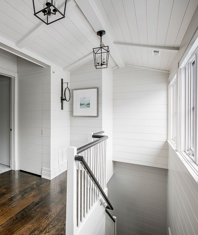 Benjamin Moore Simply White The Shiplap Paint Color Is Custom But