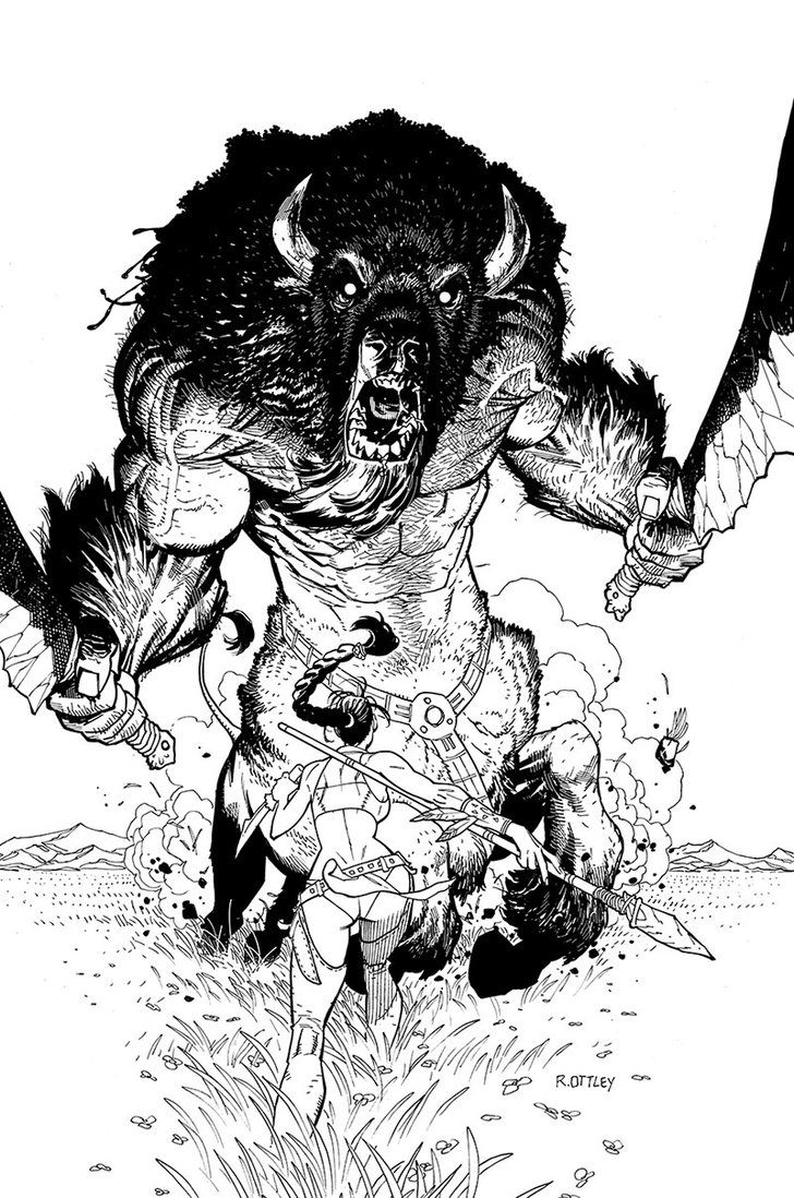 buffalotaur_by_ryanottley Raw power against a chick name Hope. visit g-desi.com follow: https://www.facebook.com/guece.design https://twitter.com/G_DESIxGUECE and http://instagram.com/guece