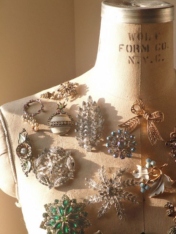 Gorgeous Vintage Brooches...with new ways to wear them!