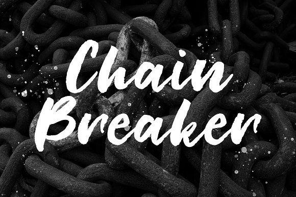 Chain Breaker Free Script Fonts Stationery Design Illustrator Cs
