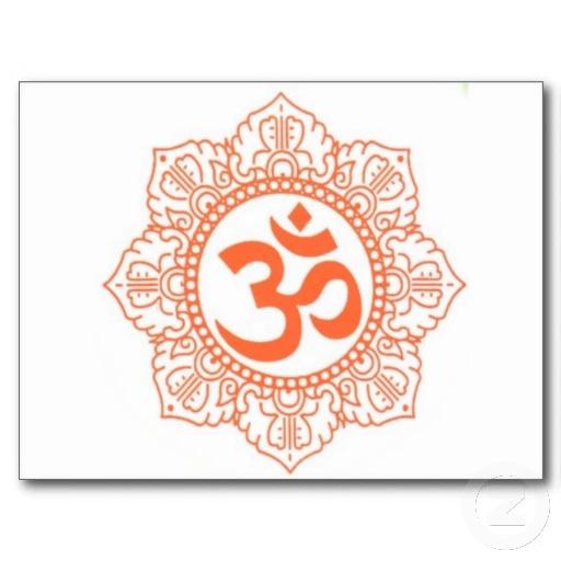 Hindu Symbols Tattoos | HINDU - BUDDHA SYMBOLS OM,OHM POST CARD | Zazzle.co.uk