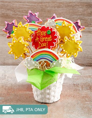 Confectionary Cakes and Cupcakes: Have a Great Day Cookie Bouquet!