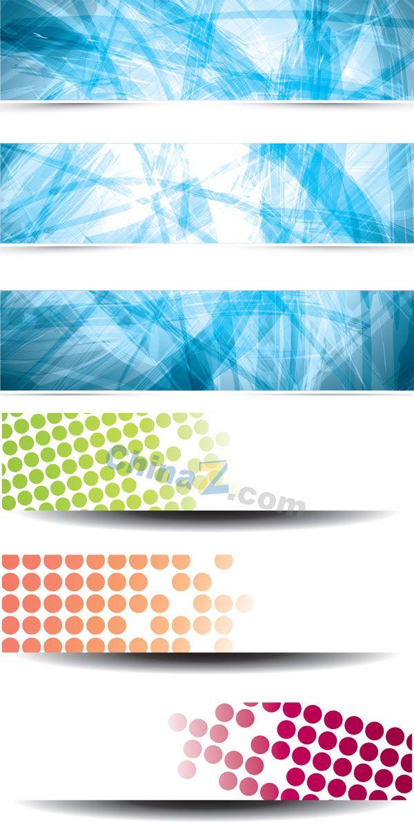Web banner design vector material