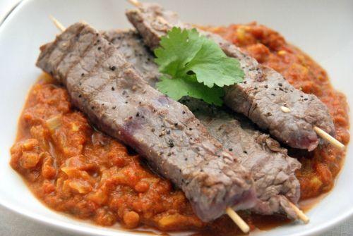 Homemade tikka masala with beef.  Hjemmelaget tikka masala med biff.