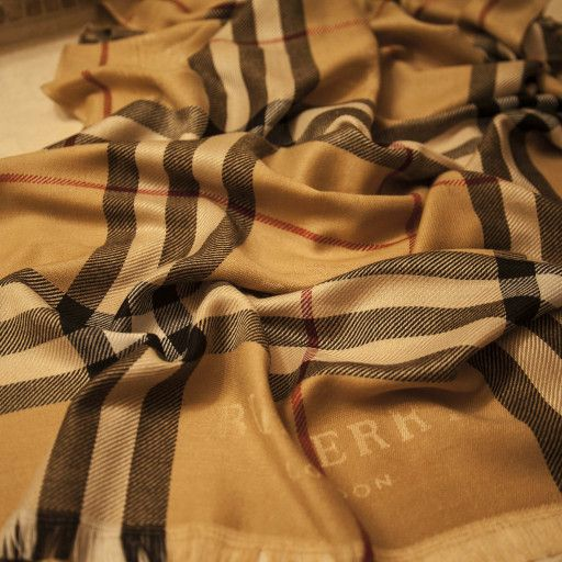 c0de994fa Burberry's iconic nova check plaid with Burberry Knight logo adorns this  extra-large, super soft, light weight 100% cashmere scarf. It is in mint  condition, ...