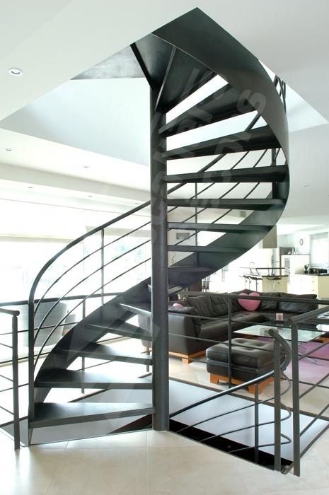 Photo dh52 spir 39 d co standing escalier int rieur - Deco appartement duplex contemporain ...