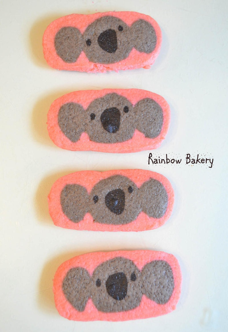 Koala refrigerator cookies
