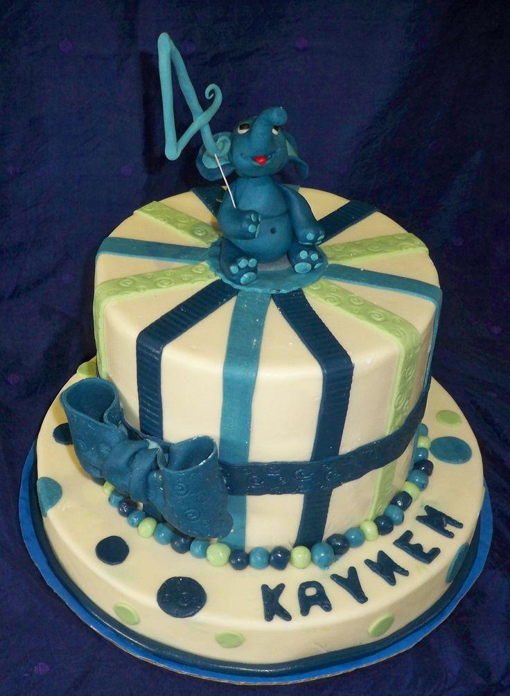 Elephant birthday cake http://www.elisabethscakes.com.au