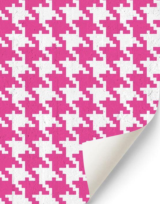 Pop Pied de poule #wallpaper in magenta. Buy on www.mrmanu.com