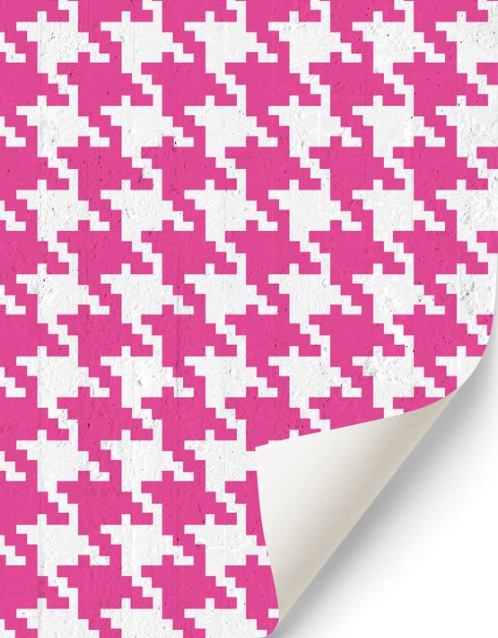 Pop Pied de poule #wallpaper in magenta. Buy on www.mrmanu.com