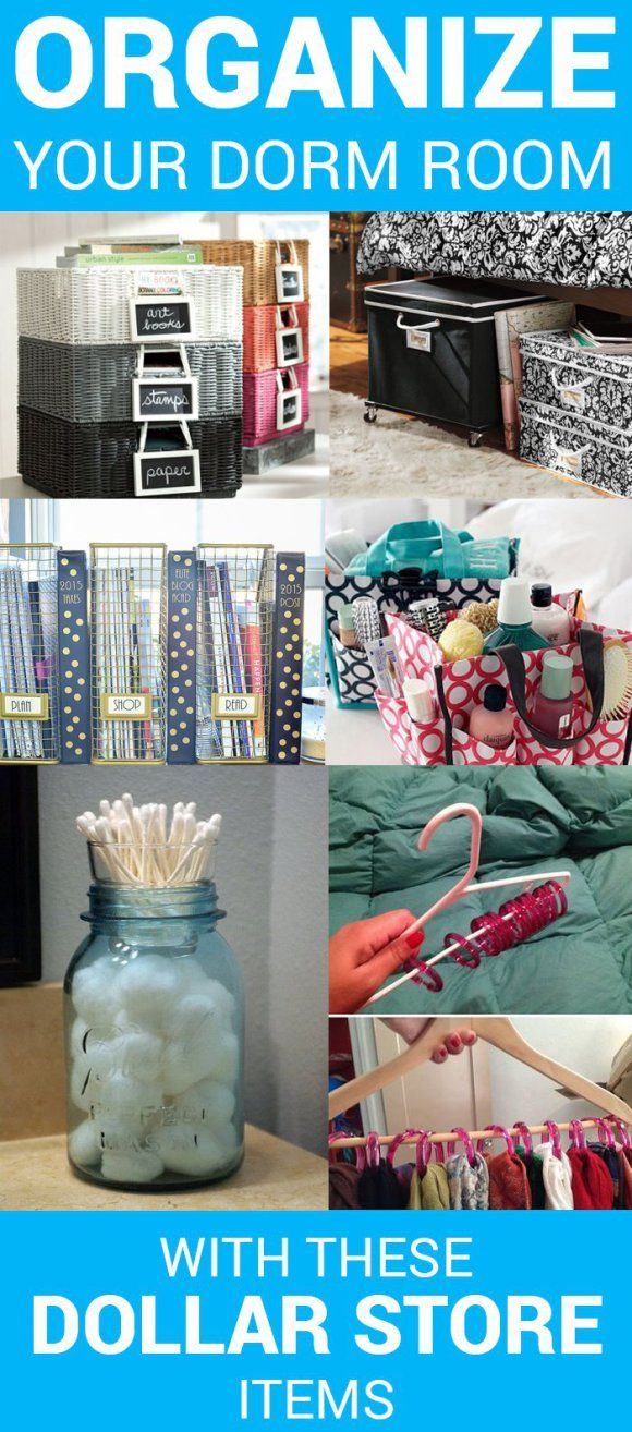 Organize Your Dorm Room With These 6 Dollar Store Items – SOCIETY19