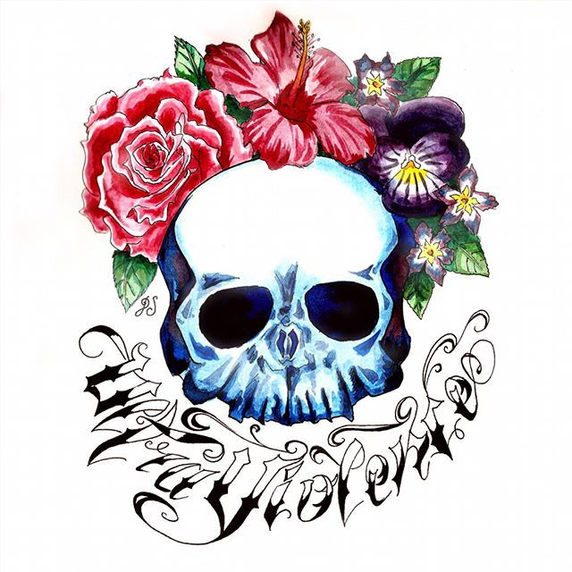 "ULTRAVIOLENCE ""I was filled with poison But blessed with beauty and rage""  #ultraviolence#lanadelrey#skull#lyrics#flowers#roses#hibiscus#violets#draw#drawing#painting#paint#watercolors#blue#sketch#tattoo#oldschool#ink#inked#акварель#цветок#роза#гибискус#music#inspiration#crown#flowercrown#tacart#arts_help#ArtistSecrets"