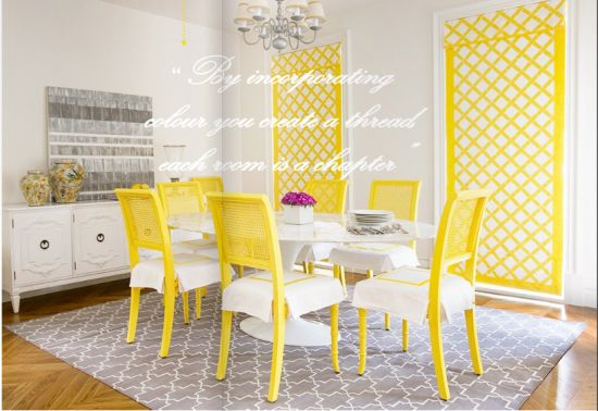 love this color palette #yellow #white #gray