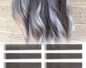 6 Best Temporary Ashy Grey hair Dye for dark and light hair - Set of 6 | DIY Grey hair Chalk for easy and simple hair coloring at home