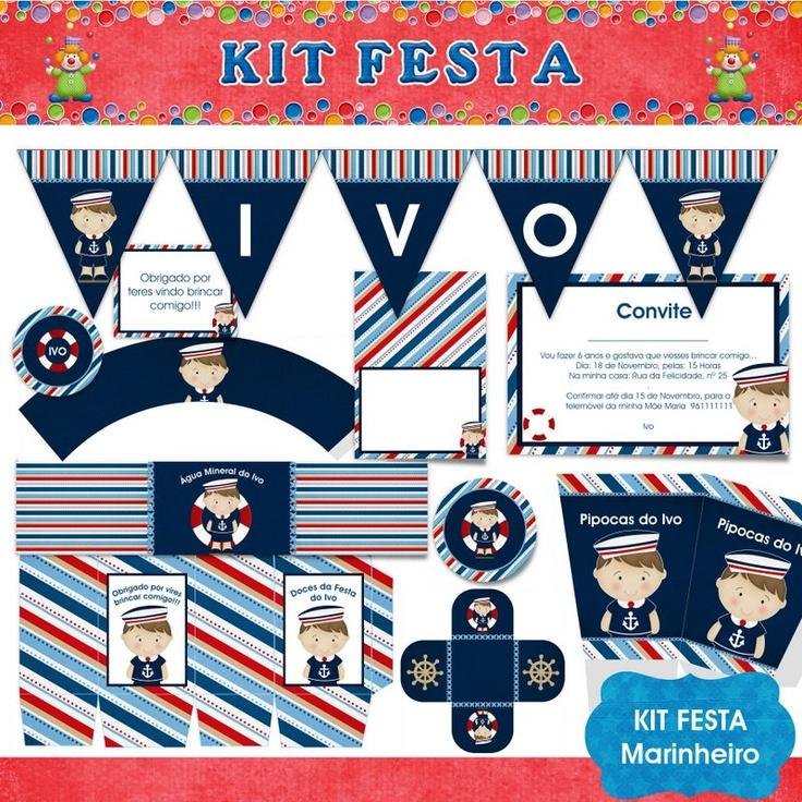 Kit Festa faça você mesma - Tema Marinheiro - Kits Festa - Faça você mesma