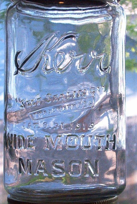 Vintage Kerr mason jar