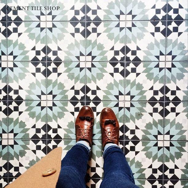 Perfect Cement Tile Shop   Encaustic Cement Tile Casablanca Green | PROJECT: OFFICE  TI | Pinterest | Cement Tiles, Casablanca And Cement