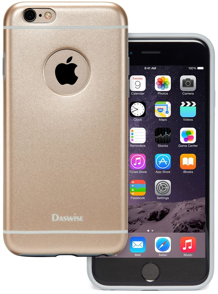 iPhone 6 Case, Daswise® Slim-fit iPhone6 Cases 4.7 Inch, Ultra-thin Screen Protector with Precise Ports & Logo Cut-outs, Soft TPU Bumper Protection- Impact & Scratch Resistant, Shock Proof/dirt Proof Metallic Finished Base (Champagne Gold)