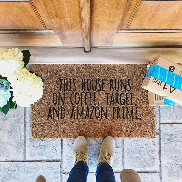 It is super duper easy to DIY your own doormats, guys! I will never go back to buying pre-made ones that I semi-like. Here's what you need: Blank Coir Mat (target has them for $9.99) Paint ( I use acrylic) Vinyl (for the stencil) Old paint brushes and/or foam daubers Electronic cutting machine ... View more