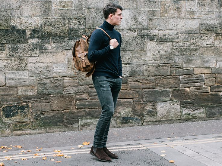 Men's Leather Backpack from Scaramanga's unique range of original leather bags. This leather rucksack is a bag he'll have for ages, to come. #giftsformen