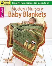 Leisure Arts 6237 Modern Nursery Baby Blankets by Tara Cousins to Crochet