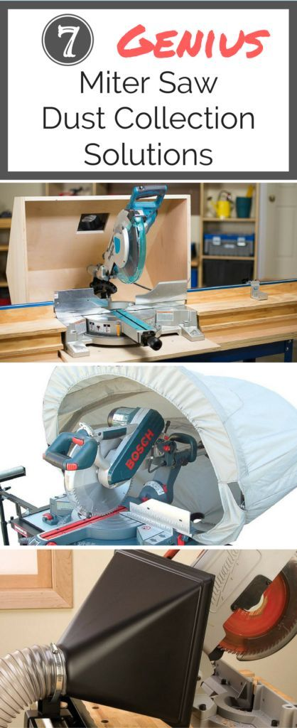 Sick of sawdust all over your work space? These genius miter saw dust collection ideas will keep your shop AND your lungs free from sawdust!